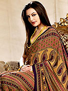 You can be sure that ethnic fashions selections of clothing are taken from the latest trend in today's fashion. This saree is nicely designed with floral and paisley print work in fabulous style. This beautiful saree is used for casual porpose which gives you a singular and dissimilar look. Color blend of this saree is nice. This saree is made with faux crepe fabric. Matching blouse is available with this saree. Slight Color variations are possible due to differing screen and photograph resolutions.