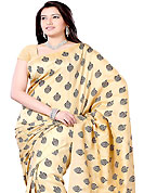 Welcome to the new era of Indian fashion wear. This saree is beautifully designed with self weaving work in form of floral motifs. This fabulous party wear saree is specially crafted for your stunning and gorgeous look. This beautiful drape is crafted with bhagalpuri silk fabric. Matching Blouse is available with this saree. Slight Color variations are possible due to differing screen and photograph resolutions.