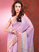 Be the cynosure of all eyes with this wonderful casual wear in flattering colors and combinations. This beautiful off white and pink cotton saree is nicely designed with block print and self weaving zari work. Beautiful print work on saree make attractive to impress all. It will enhance your personality and gives you a singular look. Matching blouse is available with this saree. Slight color variations are due to differing screen and photography resolution.