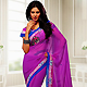 Fuchsia Pink Chiffon Saree with Blouse