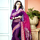 Shaded Purple and Pink Faux Georgette Saree with Blouse
