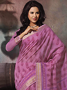 Exquisite combination of color, fabric can be seen here. This beautiful pink cotton saree is nicely designed with floral, abstract print and self weaving zari work. Beautiful print work on saree make attractive to impress all. It will enhance your personality and gives you a singular look. Matching blouse is available with this saree. Slight color variations are due to differing screen and photography resolution.