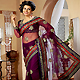 Burgundy Net Saree with Blouse