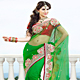 Green Net Saree with Blouse