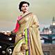 Beige Art Silk Saree with Blouse