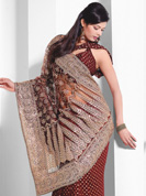 Vibrant Collection of Zari stone work sarees on Faux georgette and Net pallu sarees.