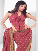 Vibrant Collection of Zari stone work sarees on Faux and Net sarees.With Unstitched blouse.