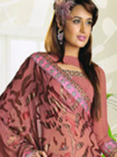 Enrich your style with fusiona of contemporary art as well as traditional hand work designer saree.