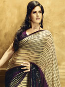 Adorn your effective look with half chiffon saree with stylish matching blouse