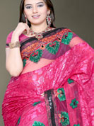 Ultimate sarees with natural party wear designer color and matching blouse would be stitch.