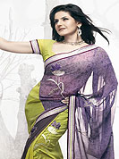 Georgette is a stylish fabric. The conventional Indian designs and patterns used on these sarees maintain the cultural look, even as the modern draping style of these sarees give the wearer a cool look as well. Ultimate collection georgette printed sarees with matching blouse.