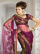 Net sarees are highly in order on a range of occasions such as wedding, and festivals, here women wear dressy clothes in their fanciest clothes and strive to look their best. Because of their stunning looks, net sarees have become popular with women all over the country.