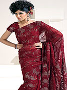 Designer Sarees in  material with net maintain the cultural look as well as modern look. Slight Color variations possible due to differing screen and photograph resolutions.