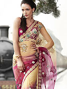 Let your personality speak for you this net saree embellished with embroidered work with embroidered work.  The stylish and amazing pattern made it attractive and unique to others.  The saree is specially crafted for your stunning look and terrific style with this matching blouse. Slight Color variations possible due to differing screen and photograph resolutions.