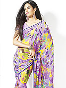 Timeless georgette adorns you formal and get perfection look in your formal party with this printed modern design. This saree have nicely designed with abstract pattern. Yellow and green color give's you a formal and singular look in party Slight Color variations possible due to differing screen and photograph resolutions.