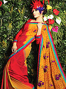 Be the cynosure of all eyes with this wonderful casual wear saree in flattering colors and combinations. Saree is beautified with floral print and fabric lace border. Pallu is nicely designed with embroidery patches. Contrasting lines print on all over saree make attractive. It will enhance your personality and gives you a singular look. Matching blouse is available. Slight color variations are due to differing screen and photography resolution.