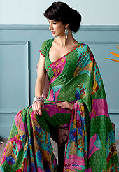 Welcome to the new era of Indian fashion wear. This beautiful and pretty printed saree nicely designed with Stylish floral pattern. The saree is specially crafted for your stunning look and terrific style. This saree material is georgette. Matching Blouse is available. Slight color variations are possible due to differing screen and photograph resolution.