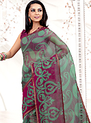 Emblem of fashion and beauty, each piece of our range of printed saree is certain to enhance your look as per today's trends. This Pastel green net printed casual wear saree have beautiful urban floral print work on all over. Border has amazing contrasting fabric lace. It's cool and has a very modern look to impress all. Matching blouse is available.  Slight Color variations are possible due to differing screen and photograph resolutions.