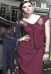 Ultimate collection designer pure cotton suits with stylish print work and with fabulous style with faux chiffon  dupatta with matching pazami and dupatta. Slight Color variations possible due to differing screen and photograph resolutions. Because of their stunning looks, Cotton suits have become popular with women all over the country.