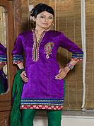 Designer Salwaar Kameez in Silk with summer friendly salwar kameez. Slight Color variations possible due to differing screen and photograph resolutions.