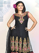 Designer Salwaar Kameez in material  net with inner. A suit worked with zircon and crystal pure hand work. Slight Color variations possible due to differing screen and photograph resolutions.