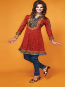 Summer is here and it is gonna get to your wardrobe as well. Be it the fabrics, the colors or the stylings …. everything is gonna be just to beat the heat! This beautiful Salwar There are hot seller items that are always in great demand. Thus, they may be out of stock at the time you make a purchase. In such cases, we will give you a choice to either change your order or else, we will re-fund your money.kameez will make quiet a comfortable ensemble. Fabric is easy to maintain and drapes exceptionally well.Kameez have lovely prints spread all over. Contrasting borders beautify the neckline, sleeve ends and shirt hem. Coordinating bottom and dupatta add to the beauty.