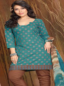 Summer friendly cotton designer semistitched or latest embroidered design on sameez or matching dupatta or pazami,  Slight color differ may be possble due to photography.