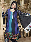 Ultimate collection designer pure jaquard salwar kameez with valvet work and with fabulous style. Slight Color variations possible due to differing screen and photograph resolutions.