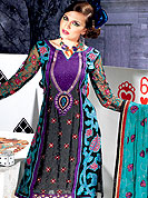 Create a centre of attraction with this pure jacquard suit with pure chiffon dupatta. This stunning suit adorns with floral embroidery work. Beautiful embroidery done with reshams threads and zari work on kameez which is enhanced your personality. Stylish pattern on neck is startling and give's a singular look. Matching churidar and dupatta is available with this. Slight Color variations are possible due to differing screen and photograph resolutions.