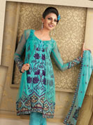 Vibrant Collection of Net embroidery Suits, With Patch Lace Work, With Full Sleeves.