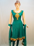 Fabulous collection of stylish suits with net and cotton self print get you grace and stunning look your persnality