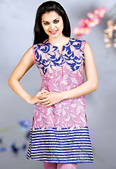 Take the fashion industry by storm in this beautiful printed kurti. This kurti is embellished with beautiful floral print work on all over in fabulous style. This kurti is made with cotton fabric. This is readymade casual wear and 36,38,40,42 & 44 sizes are available. Slight Color variations are possible due to differing screen and photograph resolutions.