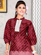 Printed kurti are the best choice for a girl to enhance her feminine look. This simple and pretty kurti has beautiful floral print and lace work. This drape material is cotton. The entire ensemble makes an excellent wear. This is a perfect casual wear readymade kurti. Slight Color variations are possible due to differing screen and photograph resolutions.