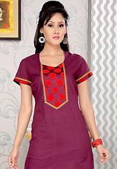 Different colors are a perfect blend of traditional Indian heritage and contemporary artwork. This simple and pretty kurti has beautiful embroidery patch work. Embroidery patch is done with sequins and lace work. This drape material is cotton. The entire ensemble makes an excellent wear. This is a perfect casual wear readymade kurti. Slight Color variations are possible due to differing screen and photograph resolutions.