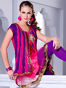 Take a look on the changing fashion of the season. This beautiful designer pink net readymade kurti have amazing embroidery work is done with resham, zari, sequins, stone and lace work. The entire ensemble makes an excellent wear. This is a perfect patry wear readymade kurti. Bottom shown in the image is just for photography purpose. Slight Color variations are possible due to differing screen and photograph resolutions.