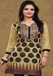 This simple and pretty kurti has beautiful geometric print and embroidery patch work is done with resham work. This drape material is crepe silk. The entire ensemble makes an excellent wear. This is a perfect casual wear readymade kurti. Bottom shown in the image is just for photography purpose. Minimum quantity order 12pcs in each style. Slight Color variations are possible due to differing screen and photograph resolutions.