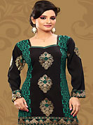 This black and green american crepe readymade tunic is nicely designed with floral and foil print work. This is a perfect casual wear readymade kurti. Bottom shown in the image is just for photography purpose. Minimum quantity order 12pcs in each style. Slight Color variations are possible due to differing screen and photograph resolutions.