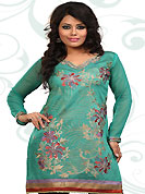 This simple and pretty kurti has beautiful embroidery patch work is done with resham and lace work. This drape material is kora silk. The entire ensemble makes an excellent wear. This is a perfect casual wear readymade kurti. Bottom shown in the image is just for photography purpose. Minimum quantity order 12pcs in each style. Slight Color variations are possible due to differing screen and photograph resolutions.