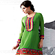 Green Georgette Readymade Tunic